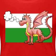 Puffing Welsh dragon - Wales