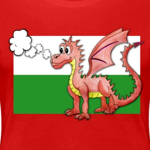 Puffing Welsh dragon - Wales - Women's Premium T-Shirt