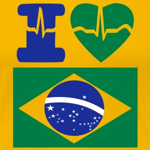 i_love_brazil_supporters Tee shirts - T-shirt Premium Femme