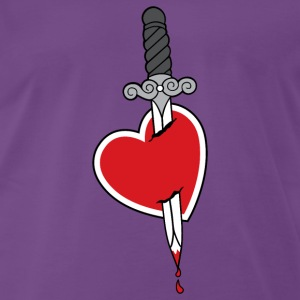 Heart and Knife - Men's Premium T-Shirt