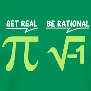 be rational - get real (2c) T-Shirts - Männer Premium T-Shirt
