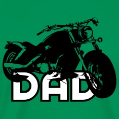 Biker DAD Black/White Motorcycle T-Shirt BL