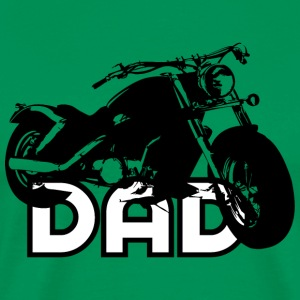 Biker DAD Black/White Motorcycle T-Shirt BL - Mannen Premium T-shirt