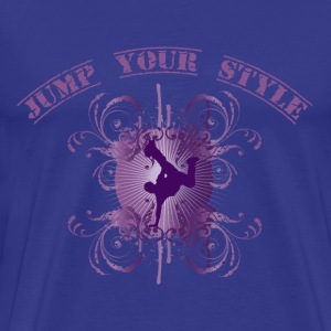 Jump your style - purple T-shirt - Maglietta Premium da uomo