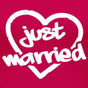 Just Married__V005 Tee shirts - T-shirt Premium Femme