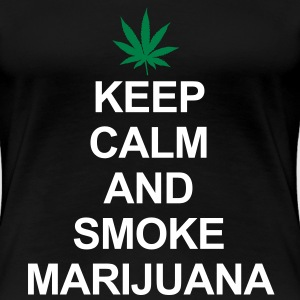 Keep Calm And Smoke Marijuana T-shirt - Maglietta Premium da donna