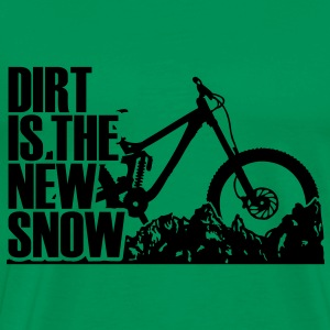 dirt is the new snow T-shirts - Herre premium T-shirt