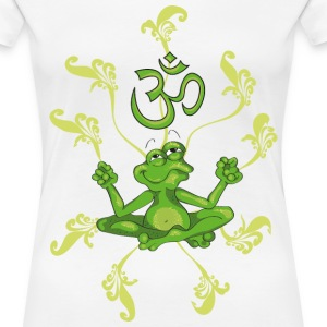 The frog sings the OM at his Yoga-Lesson Camisetas - Camiseta premium mujer
