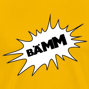 Bääm, bubble, cartoon, cartoon thought bubble, bang, boom, fun, colorful - Men's Premium T-Shirt