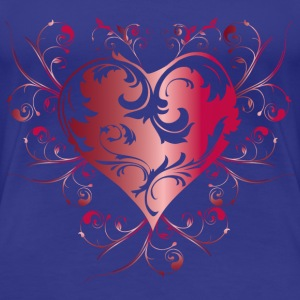 heart red T-shirts - Dame premium T-shirt