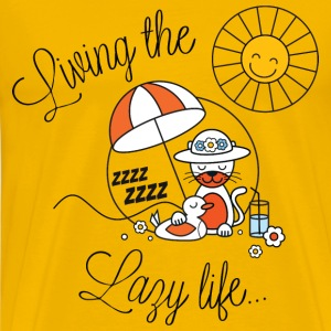 Living lazy in the sun for spring and summer or back to school funny kids t-shirts T-Shirts - Men's Premium T-Shirt