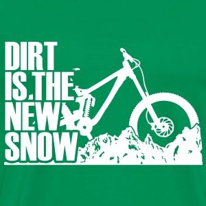 dirt is the new snow Camisetas - Camiseta premium hombre