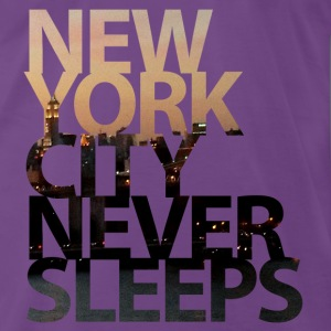 New York City Never Sleeps T-Shirts - Männer Premium T-Shirt