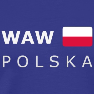 Classic T-Shirt WAW POLSKA white-lettered - Men's Premium T-Shirt