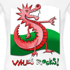 Wales Rocks ! - Women's Premium T-Shirt