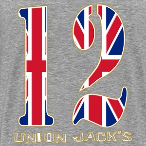 uk union jacks number 12 T-Shirts - Men's Premium T-Shirt