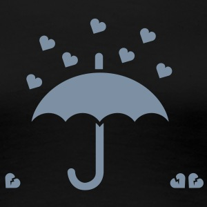 I love heart and umbrella funny icon for love, broken heart, anniversary, geek and valentine's day t shirts T-Shirts - Women's Premium T-Shirt
