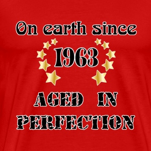 on earth since 1963 T-shirts - Herre premium T-shirt
