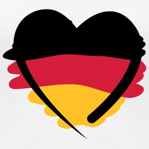 Deutschland Herz | German Heart | Art T-Shirts - Frauen Premium T-Shirt