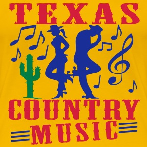 texas country music Tee shirts - T-shirt Premium Femme