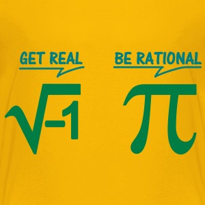 get real - be rational (2c) Kinder T-Shirts - Kinder Premium T-Shirt