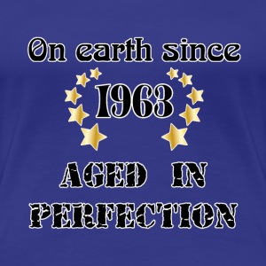 on earth since 1963 T-shirts - Dame premium T-shirt