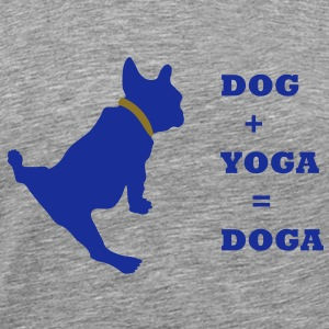 dog_yoga_text T-shirts - Herre premium T-shirt