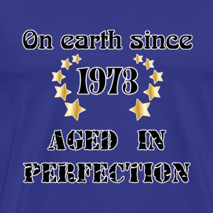 on earth since 1973 T-shirts - Herre premium T-shirt