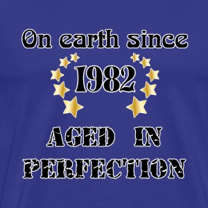 on earth since 1982 T-shirts - Herre premium T-shirt