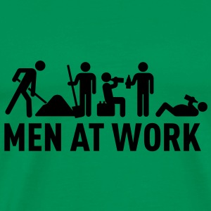 men at work - construction area - worker hard working Tee shirts - T-shirt Premium Homme