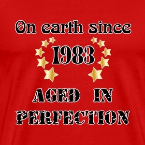 on earth since 1983 T-shirts - Herre premium T-shirt