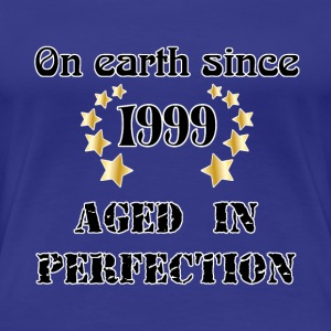 on earth since 1999 Camisetas - Camiseta premium mujer