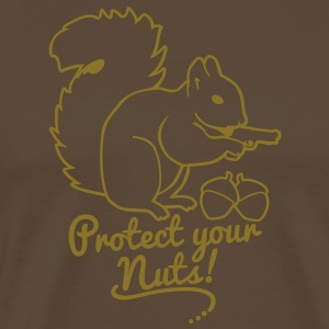 protect your nuts T-shirts - Mannen Premium T-shirt