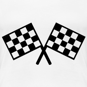 flags - car race T-Shirts - Women's Premium T-Shirt