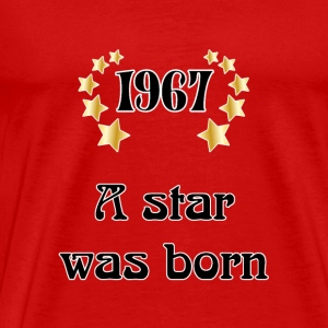 1967 - a star was born T-shirts - Herre premium T-shirt