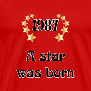 1987 - a star was born T-shirts - Premium-T-shirt herr
