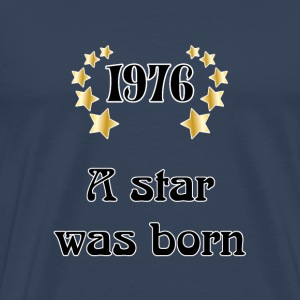 1976 - a star was born T-skjorter - Premium T-skjorte for menn