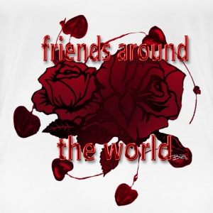 Friends around the word - Frauen Premium T-Shirt