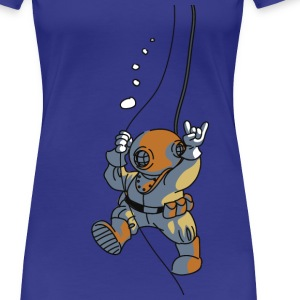 diver old fashioned T-Shirts - Frauen Premium T-Shirt