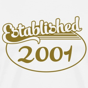 Birthday-Shirt - Geburtstag - Established 2001 (fr) Tee shirts - T-shirt Premium Homme