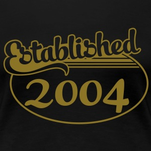 Birthday-Shirt - Geburtstag - Established 2004 (sv) T-shirts - Premium-T-shirt dam