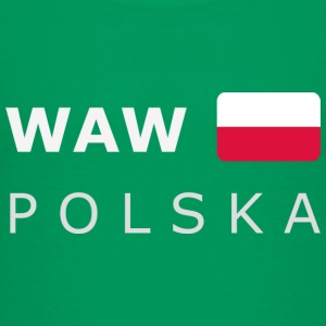 Teenager T-Shirt WAW POLSKA white-lettered - T-shirt Premium Ado