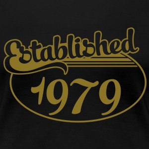 Birthday-Shirt - Geburtstag - Established 1979 (no) T-skjorter - Premium T-skjorte for kvinner