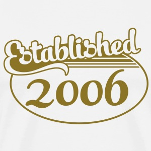 Birthday-Shirt - Geburtstag - Established 2006 (no) T-skjorter - Premium T-skjorte for menn