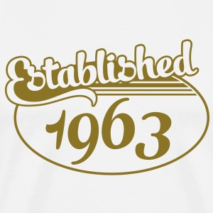 Birthday-Shirt - Geburtstag - Established 1963 (no) T-skjorter - Premium T-skjorte for menn