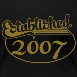 Birthday-Shirt - Geburtstag - Established 2007 (no) T-skjorter - Premium T-skjorte for kvinner
