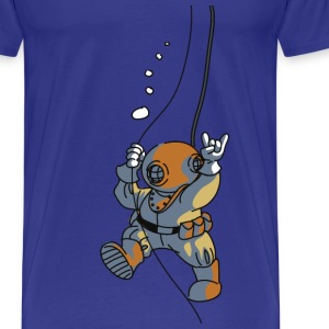 diver old fashioned Tee shirts - T-shirt Premium Homme