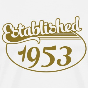 Birthday-Shirt - Geburtstag - Established 1953 (sv) T-shirts - Premium-T-shirt herr