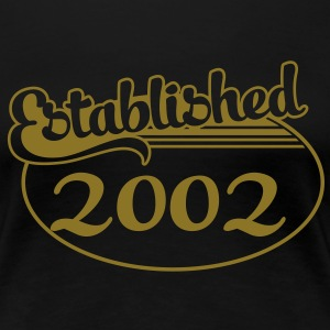 Birthday-Shirt - Geburtstag - Established 2002 (it) T-shirt - Maglietta Premium da donna