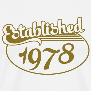 Birthday-Shirt - Geburtstag - Established 1978 (it) T-shirt - Maglietta Premium da uomo
